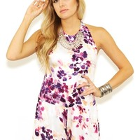 Some Days Lovin Lonely Floral Halter Jumpsuit in Multi | Boutique To You