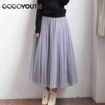 Adult Tulle Skirt 2017 3 Layers Summer Fashion Long Skirts Womens Plus Size Skirt Tutu Voile Sun Skirt School Skirt Female