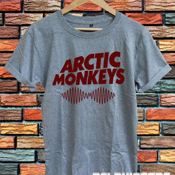 hot arctic monkeys shirt arctic monkeys band t-shirt sport grey printed unisex size  (DL-97)