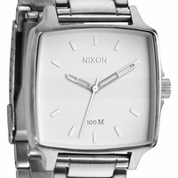 Men's Nixon 'Cruiser' Square Bracelet Watch, 36mm - Silver/ White