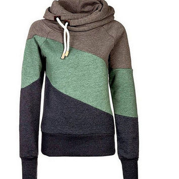 Ayopanda Autumn Women's thickening Long Sleeve Hoodies Colorful Sweater Comfy and Cozy Sportswear Gym Clothes Top XXL