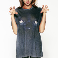 NO WAY JOSE OVERSIZED T at Wildfox Couture in  BLKM, BLUM