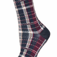 TRADITIONAL CHECK ANKLE SOCKS