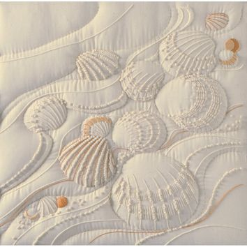 "Ocean's Edge-Stitched In Thread Janlynn Candlewicking Embroidery Kit 14""X14"""