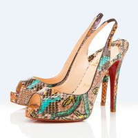 Christian Louboutin platforms n-prive 120mm multicolor - $185.00