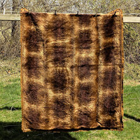 Chase Horsehair Wool Carriage Blanket, Vintage Carriage Robe, Lap Blanket