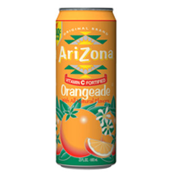 Arizona Tea Orangeade 23 Oz Big Cans Pack of 24