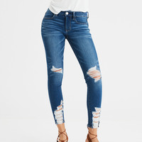 AE Ne(X)t Level Jegging Crop, Shredded Bright Indigo