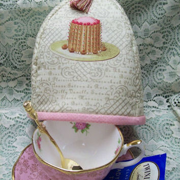 French Tea Cakes Tea Cup Cozy Cover