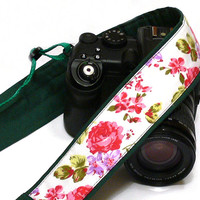 Flowers Camera Strap. DSLR Camera Strap. Canon, Nikon Camera Strap. Women Accessories