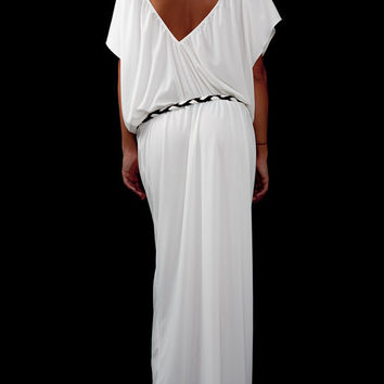 61304142071 Plus Size Clothing  White Dress Backless  Boho Wedding Dress  Maternity  Dress  White