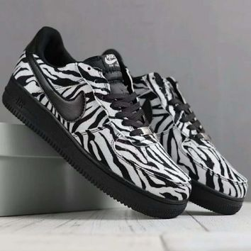 Nike Leopard grain Fashion Casual Men Running Sport Casual Shoes Sneakers Black G-SSRS-CJZX