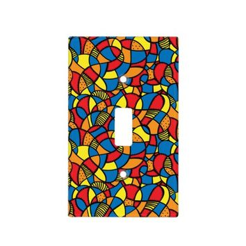 Happy Mosaic Light Switch Cover