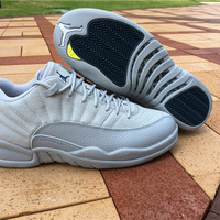 "Air Jordan 12 Low ""Grey""  AJ 12 Retro Men Women Basketball Shoes"