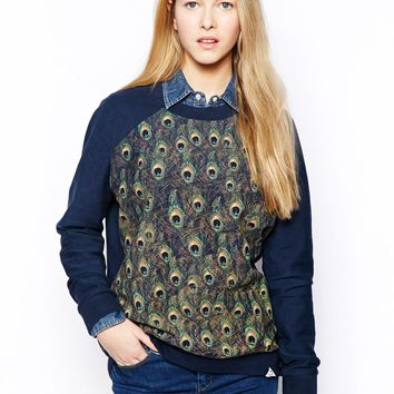 Bellfield Sweater In Peacock Print
