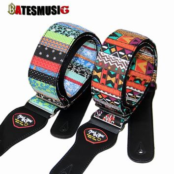 Guitar electric guitar strap classical national style embroidery electric guitar straps