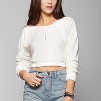 Pins And Needles Fuzzy Ballerina Cropped Pullover Sweatshirt - Urban Outfitters