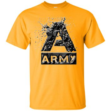 ARMY SQUARE : BLACK : G200 Gildan Ultra Cotton T-Shirt