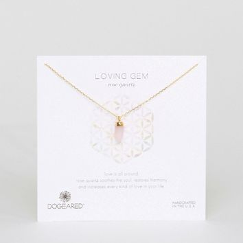 Dogeared Gold Plated Rose Quartz Loving Gem Reminder Necklace at asos.com