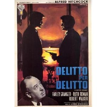 Strangers On A Train Italian Movie poster Metal Sign Wall Art 8in x 12in