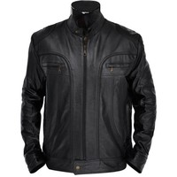 Elijah Mens Leather Jacket