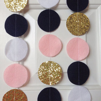 Felt Circle Garland Add-On: GOLD!