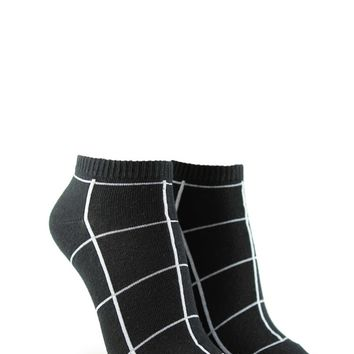 Grid Pattern Ankle Socks