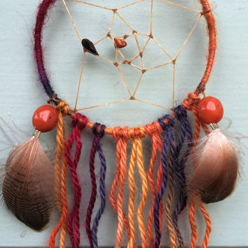 Handmade Small Squiggly Sue Dream Catcher