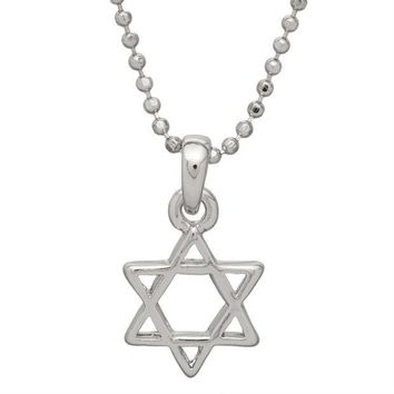 DCCKU3R Small Star of David Necklace