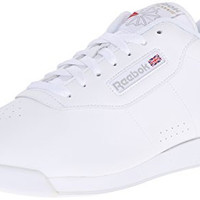 Reebok Women's Princess Sneaker,White,6.5 W