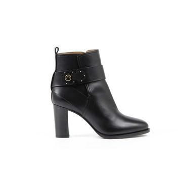 Black 37.5 EUR - 7.5 US Ralph Lauren Womens Ankle Boot MEHIRA SPORT CALF BLACK