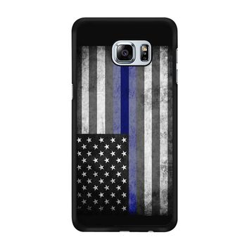 The Thin Blue Line American Police Officer Samsung Galaxy S6 Edge Plus Case