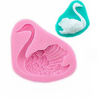 Swan Silicone Fondant Cake Decorating Sugarcraft Mold Cookie Pastry Baking Mould