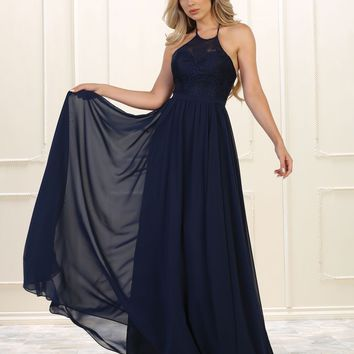 Prom Long Simple Bridesmaids Formal Dress