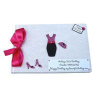 21st Birthday Party Guest Book - Pink and Black