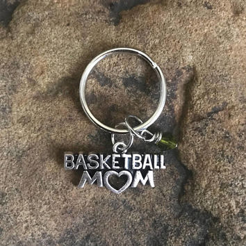 Basketball Mom Keychain, Basketball Gifts for Mom, Basketball Player, Home Run, NBA, Goal, Sports Keychain, Basketball Accessories