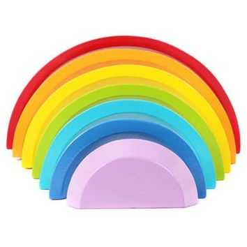 Creative Rainbow Assembling Blocks Baby Educational Toy