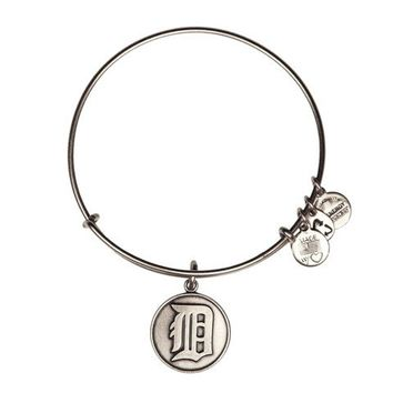 Alex and Ani Detroit Tigers Cap Logo Charm Bangle - Russian Silver