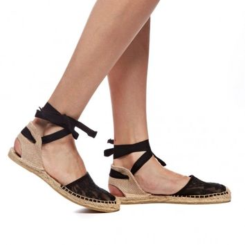 Sandal - Chantilly Lace Black Espadrilles for Women from Soludos - Soludos Espadrilles