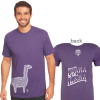 """SAVE THE DRAMA FOR YOUR LLAMA"" crew/purple"
