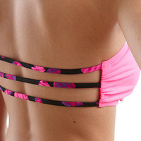 Kandy Wrappers For PacSun Tiger Striped Bandeau Top at PacSun.com