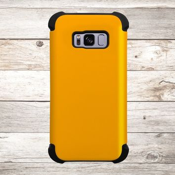 Solid Color Orange for Apple iPhone, Samsung Galaxy, and Google Pixel