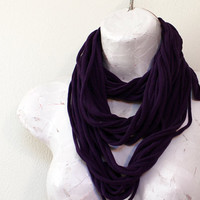 Infinity Scarf Necklace Plum Purple