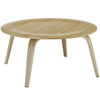 Mid Century Modern Plywood Coffee Table Natural