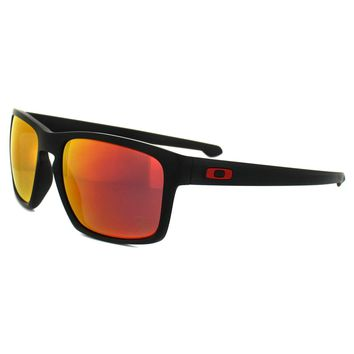 Oakley Sunglasses Sliver OO9262-12 Ferrari Matt Black Ruby Iridium