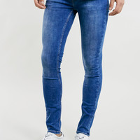 BRIGHT MARBLE WASH SPRAY ON SKINNY JEANS - New This Week - New In - TOPMAN USA