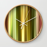 Vertical Color Wall Clock by kasseggs