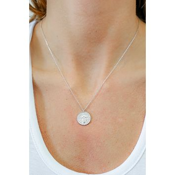 St. Benedict Necklace - Silver