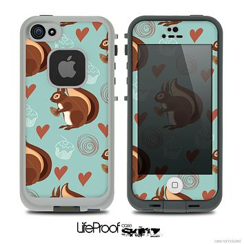 The Vector Love & Nuts Squirrel Skin for the iPhone 4 or 5 LifeProof Case