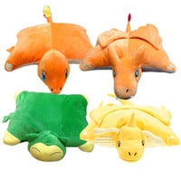 4Styles Pokemon Plush Toys 45cm*33cm Charmander Charizard Snorlax Dragonite Soft Stuffed Pillow Doll Brithday Gift